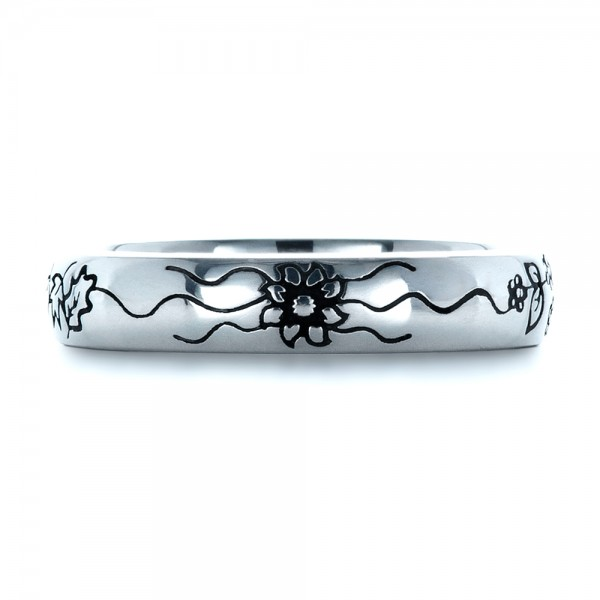 Custom Sterling Silver Band - Top View -  1244 - Thumbnail