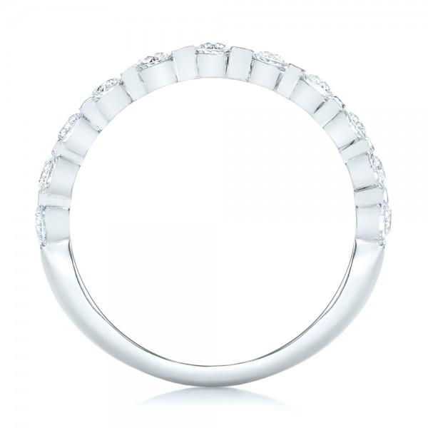 Custom Tension Set Diamond Wedding Band 102452