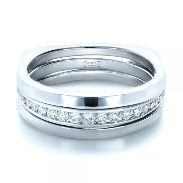 Custom White Gold and Diamonds Wedding Band