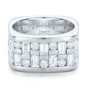 Custom Women's Channel Set Diamond Anniversary Band