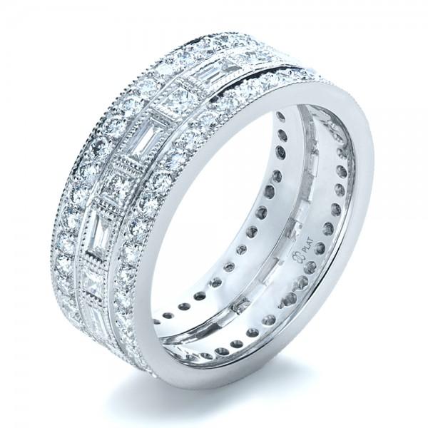 Custom women39s diamond eternity band 1188 bellevue for Women s platinum wedding rings