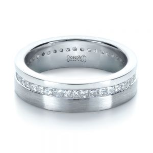 Custom Women's Princess Cut Diamond Eternity Band