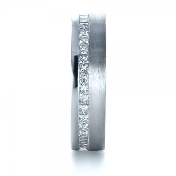 Custom Women's Princess Cut Diamond Eternity Band - Side View