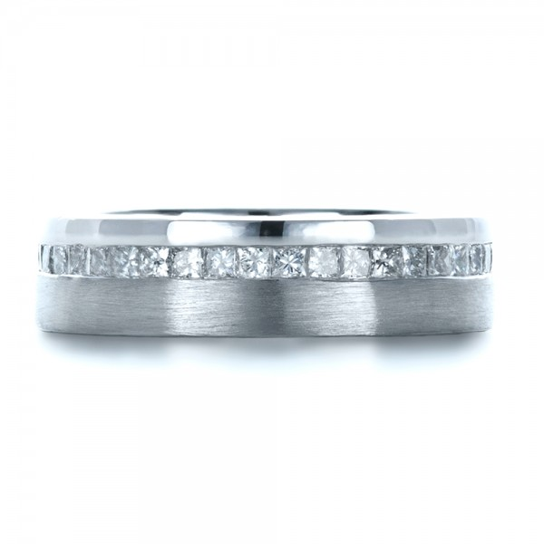 Custom Women's Princess Cut Diamond Eternity Band - Top View