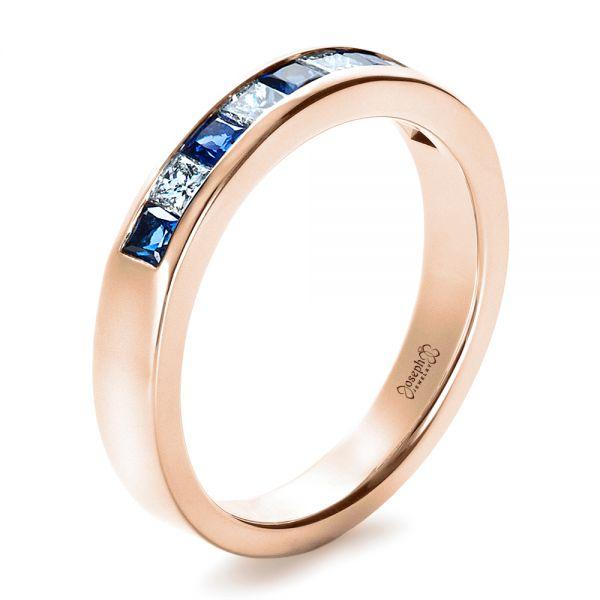 b5b6693c08a 14K Rose Gold Custom Women s Wedding Band - Three-Quarter View - 1425 -  Thumbnail ...