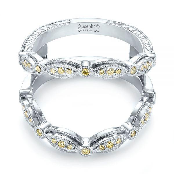 Custom Yellow Diamond Jacket Wedding Band 103392