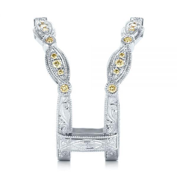 Platinum Custom Yellow Diamond Jacket Wedding Band 103392