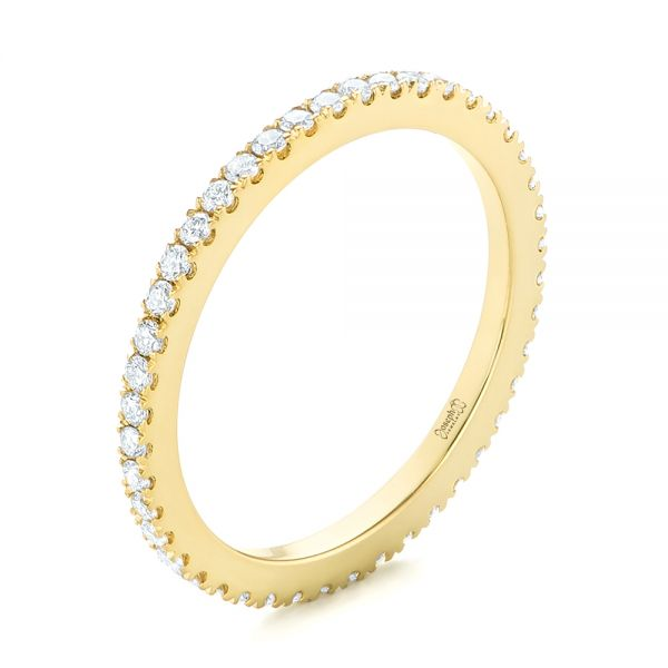 Custom Yellow Gold Diamond Eternity Band - Image