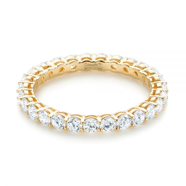 18k Yellow Gold Custom Diamond Eternity Band - Flat View -