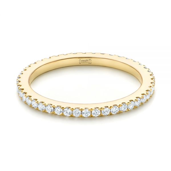 yellow eternity tap diamond gold bands band baguette