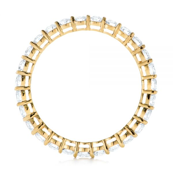 18k Yellow Gold Custom Diamond Eternity Band - Front View -