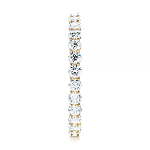 18k Yellow Gold Custom Diamond Eternity Band - Side View -