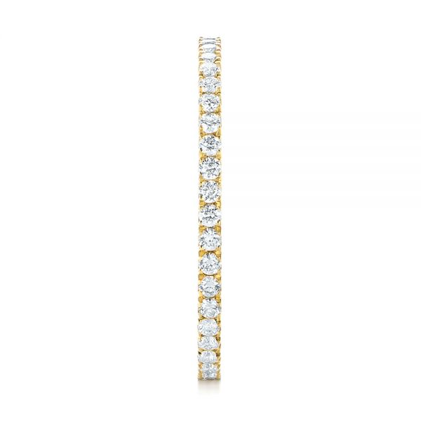 Custom Yellow Gold Diamond Eternity Band - Side View -  103597 - Thumbnail