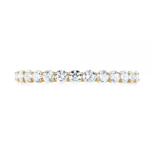 18k Yellow Gold Custom Diamond Eternity Band - Top View -
