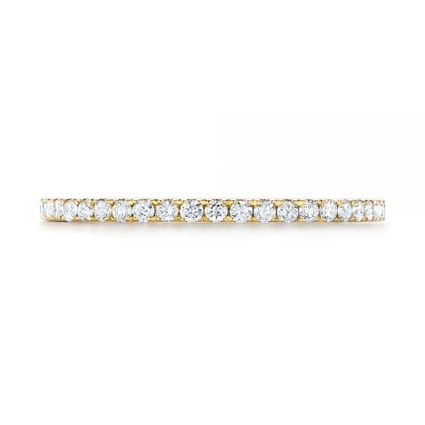 Custom Yellow Gold Diamond Eternity Band - Top View -  103597 - Thumbnail