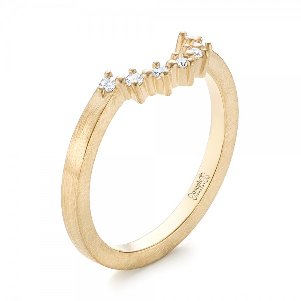 Custom Yellow Gold Diamond Wedding Band - Image