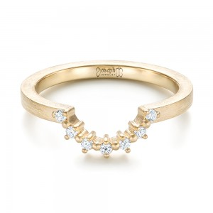 Custom Yellow Gold Diamond Wedding Band