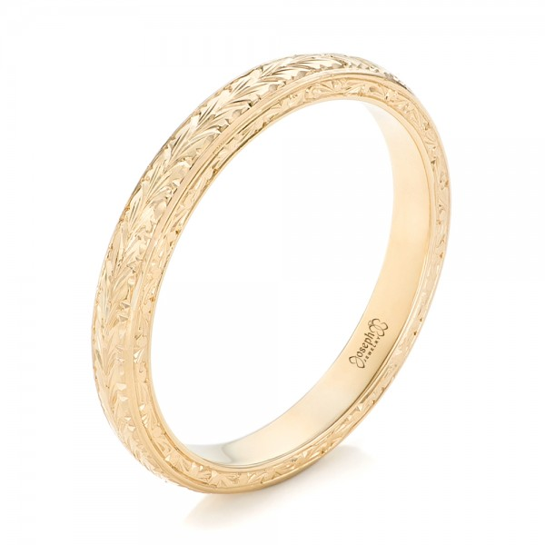 Custom Yellow Gold Wedding Band