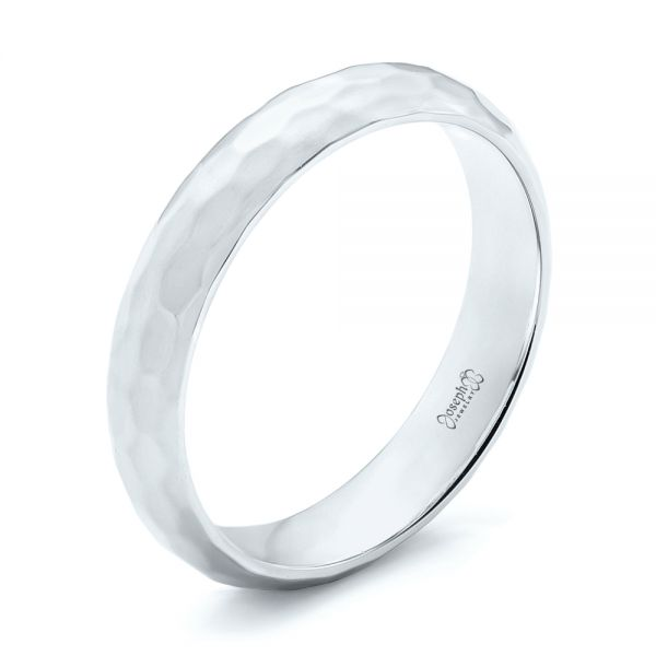 Platinum Platinum Custom Wedding Band - Three-Quarter View -  102974