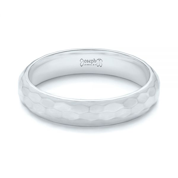 Platinum Platinum Custom Wedding Band - Flat View -  102974