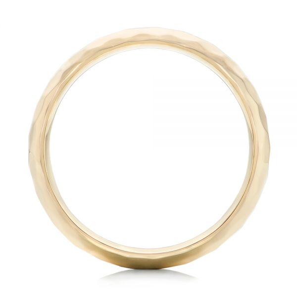 14k Yellow Gold Custom Wedding Band - Front View -