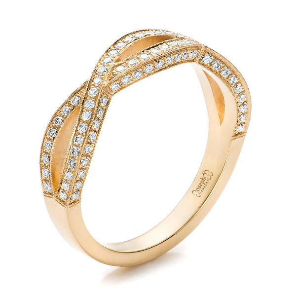Custom Yellow Gold and Diamond Wedding Band