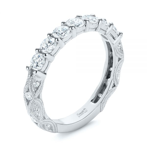Cut-out Diamond Wedding Band - Image