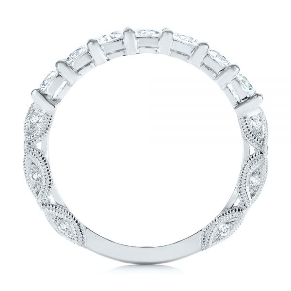 18k White Gold 18k White Gold Cut-out Diamond Wedding Band - Front View -  105787 - Thumbnail