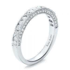 Diamond Channel Set Band with Matching Engagement Ring - Kirk Kara - Image