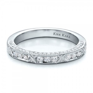 Diamond Channel Set Band with Matching Engagement Ring - Kirk Kara