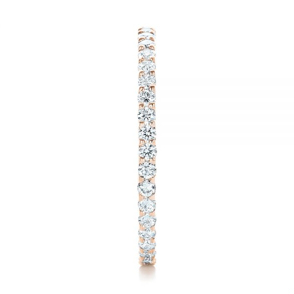 14k Rose Gold 14k Rose Gold Diamond Eternity Wedding Band - Side View -