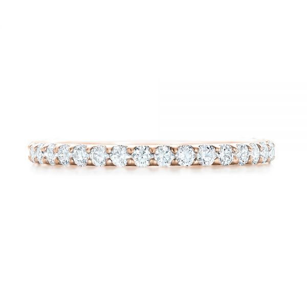 18k Rose Gold 18k Rose Gold Diamond Eternity Wedding Band - Top View -  102764
