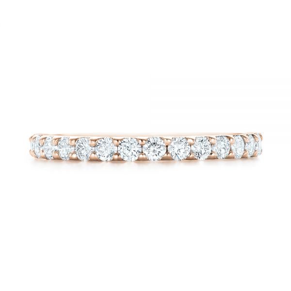 18k Rose Gold 18k Rose Gold Diamond Eternity Wedding Band - Top View -  102765