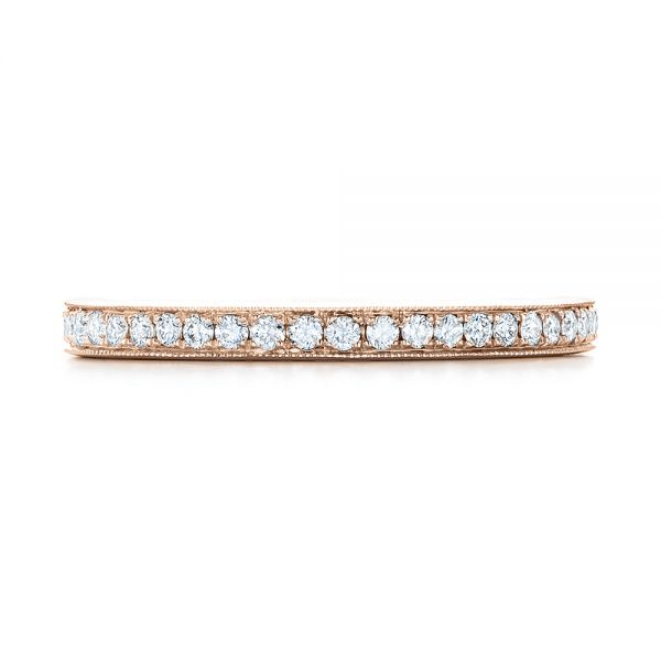 14k Rose Gold 14k Rose Gold Diamond Eternity Wedding Band - Top View -  102818