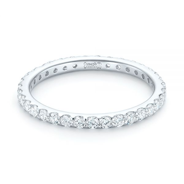 18k White Gold 18k White Gold Diamond Eternity Wedding Band - Flat View -  102764