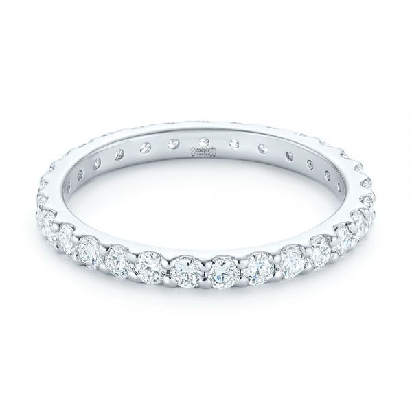 18k White Gold 18k White Gold Diamond Eternity Wedding Band - Flat View -  102765
