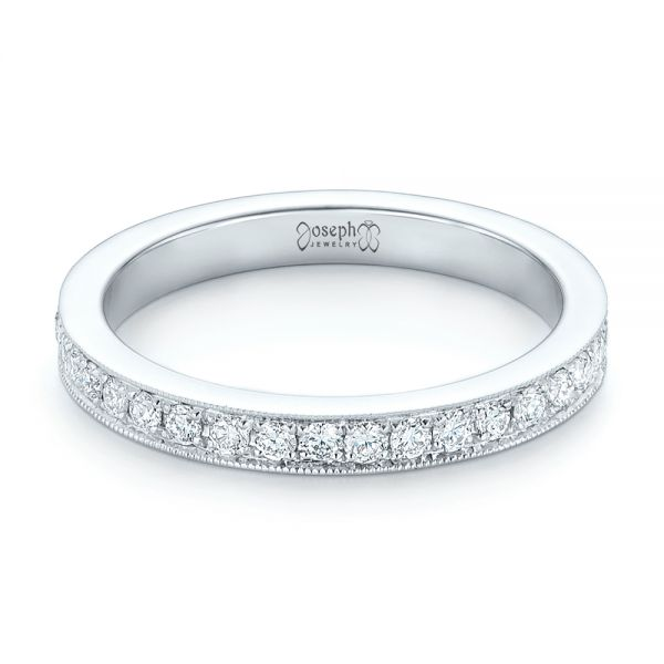 Diamond Eternity Wedding Band - Flat View -  102819 - Thumbnail