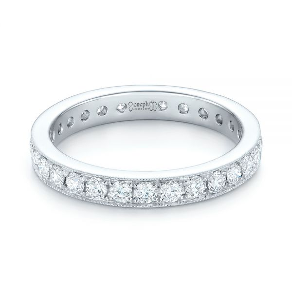 Diamond Eternity Wedding Band - Flat View -  102821 - Thumbnail