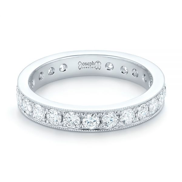 Diamond Eternity Wedding Band - Flat View -  102823 - Thumbnail