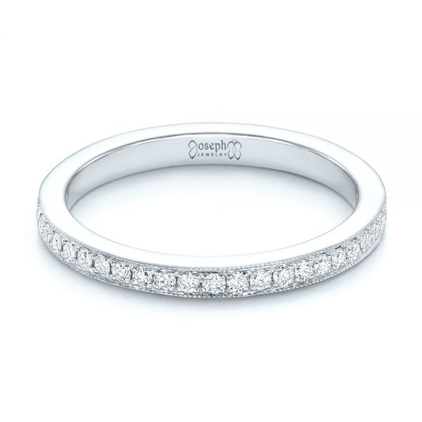 14k White Gold 14k White Gold Diamond Eternity Wedding Band - Flat View -  102824