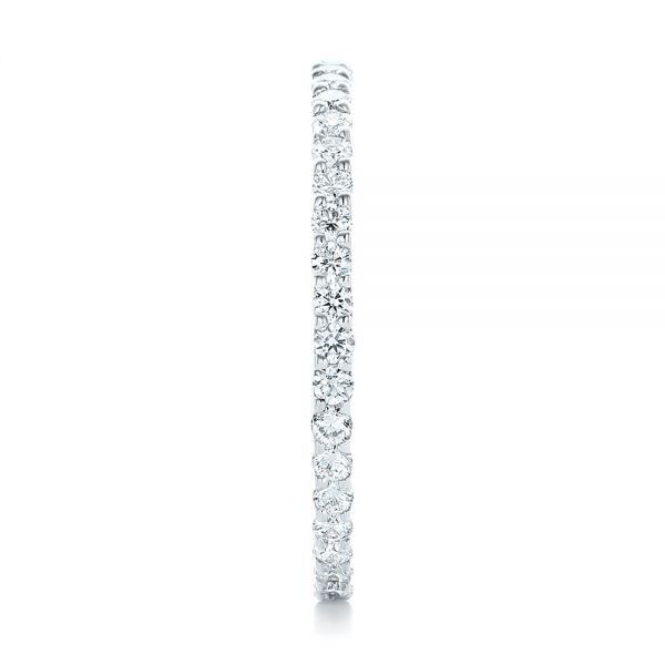 Platinum Platinum Diamond Eternity Wedding Band - Side View -