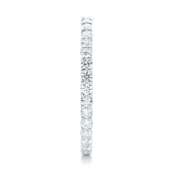 18k White Gold 18k White Gold Diamond Eternity Wedding Band - Side View -  102764