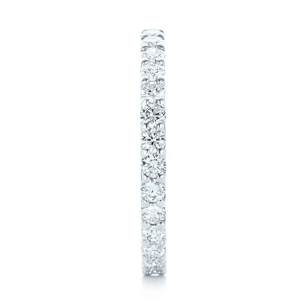 18k White Gold 18k White Gold Diamond Eternity Wedding Band - Side View -  102765