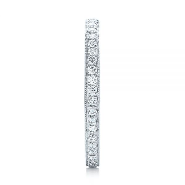 14k White Gold Diamond Eternity Wedding Band - Side View -  102818