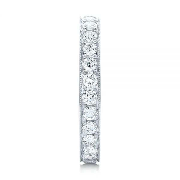 Diamond Eternity Wedding Band - Side View -  102821 - Thumbnail