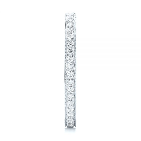 14k White Gold 14k White Gold Diamond Eternity Wedding Band - Side View -  102824