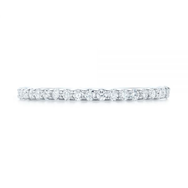Platinum Platinum Diamond Eternity Wedding Band - Top View -
