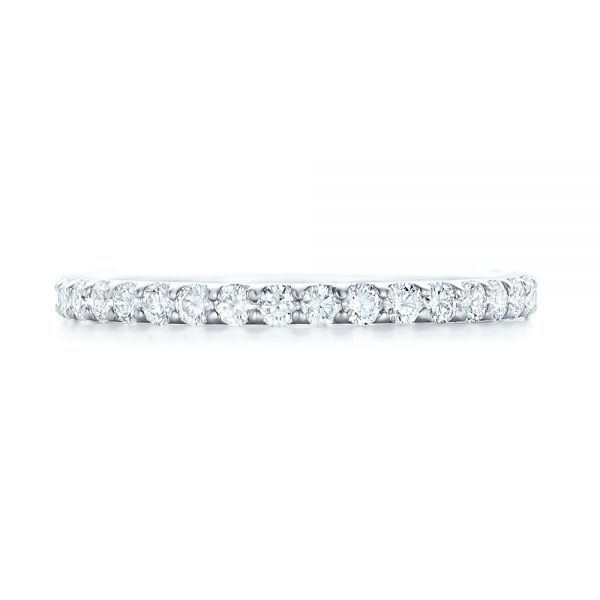 18k White Gold 18k White Gold Diamond Eternity Wedding Band - Top View -  102764