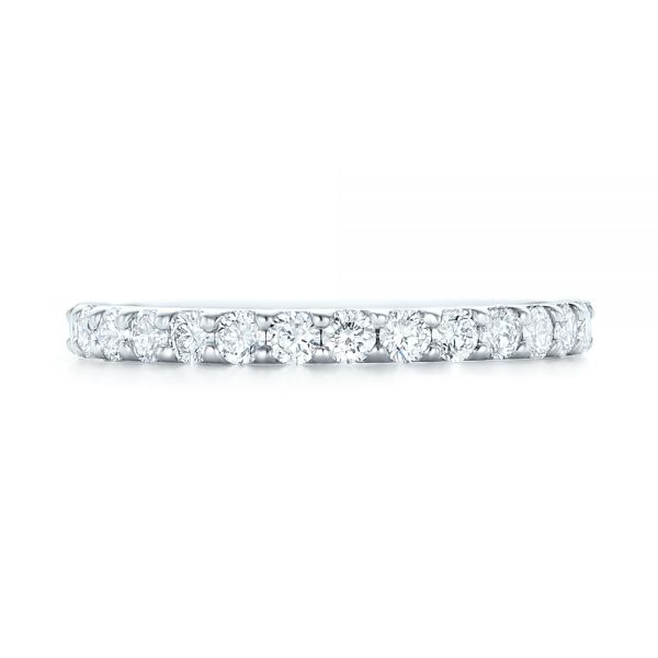 18k White Gold 18k White Gold Diamond Eternity Wedding Band - Top View -  102765