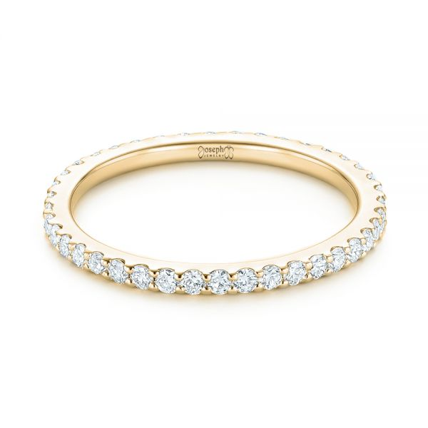 14k Yellow Gold 14k Yellow Gold Diamond Eternity Wedding Band - Flat View -